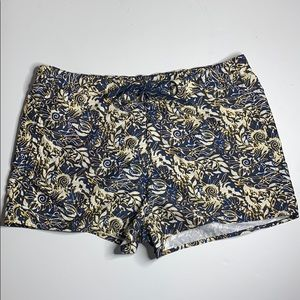 Chaps Navy Blue/Yellow/White Swim Trunks 2XL